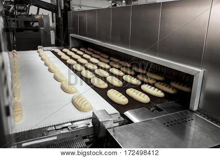 Production Of Bread At The Bakery
