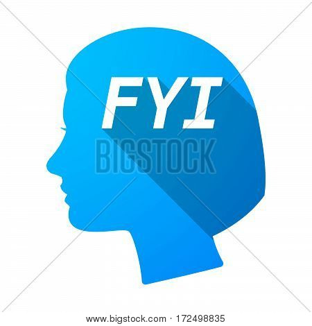 Isolated Female Head With    The Text Fyi