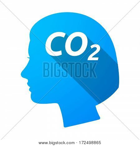 Isolated Female Head With    The Text Co2