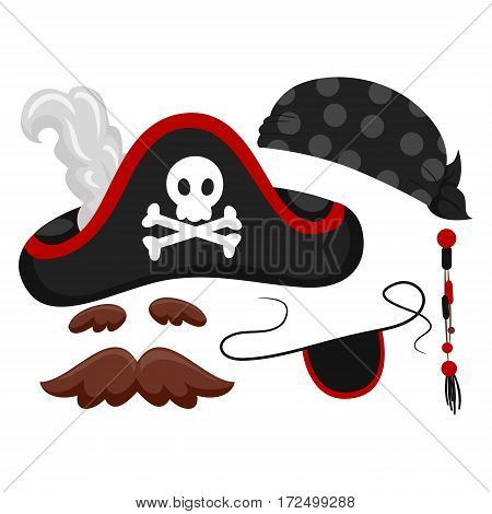 Vector Illustration of Different kinds of Pirate Elements