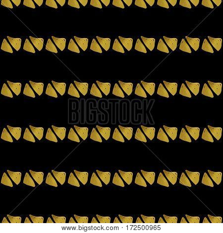 Abstract seamless pattern. Black and gold grunge background with triangles. Digital paper.