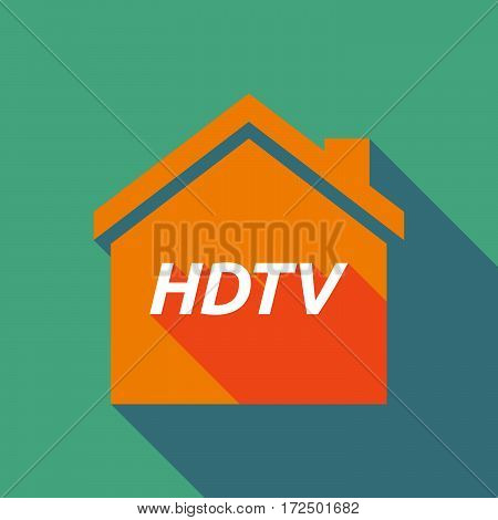 Long Shadow House With    The Text Hdtv