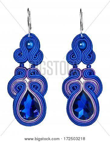 Blue Sapphire Earrings Jewelry.