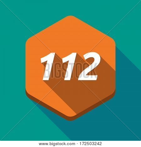 Long Shadow Hexagon With    The Text 112
