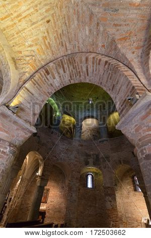 MANTUA, ITALY - MAY 2, 2016: Interior of Rotonda di San Lorenzo in Mantua. Italy