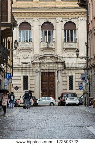 MANTUA ITALY - MAY 2 2016: The historic city center of Mantua. Italy
