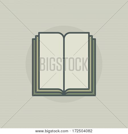 Colorful book symbol or icon - vector library concept sign or logo