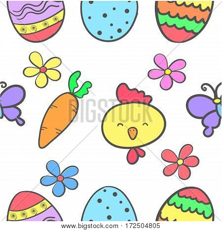 Doodle of easter egg colorful vector illustration