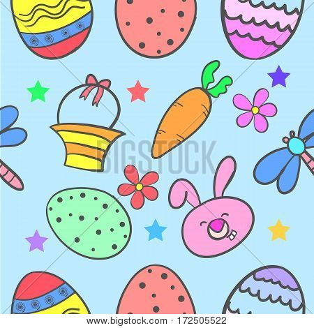 Doodle of easter egg colorful cartoon vector art