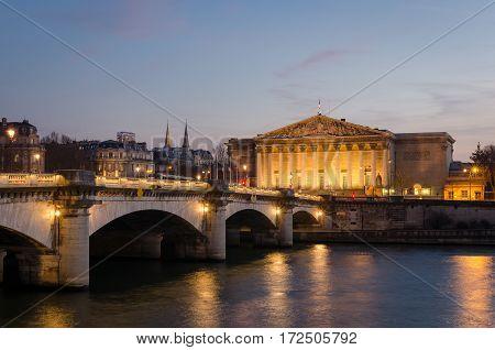 Paris Assemblee Nationale and Pont de la Concorde