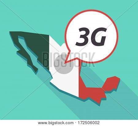 Vector Of Mexico Map With    The Text 3G