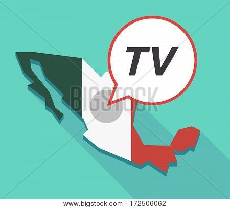 Vector Of Mexico Map With    The Text Tv