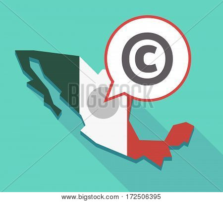 Vector Of Mexico Map With    The  Copyright Sign