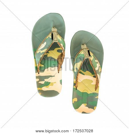 Men sandals isolated on a white background.