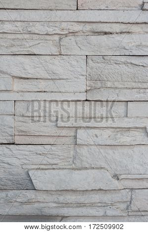 White Rustic Brick Wall Texture.