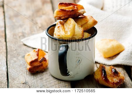 cottage cheese cookies.style rustic. .  selective focus