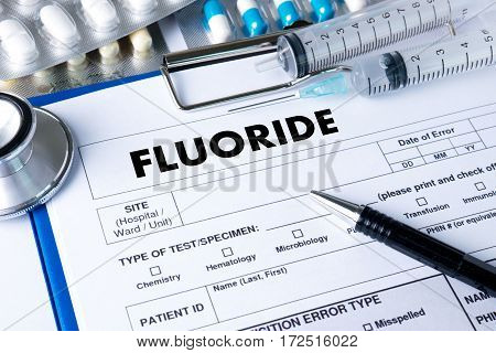 Fluoride Medicine Doctor Hand Working Professional Doctor Use Computer And Medical Equipment All Aro