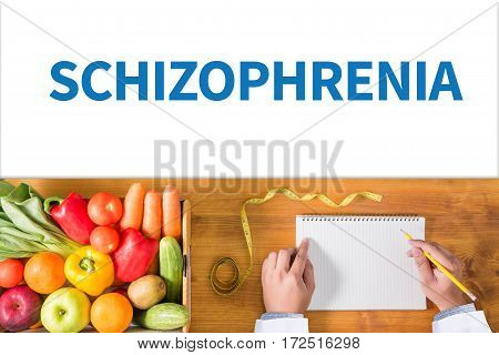 Schizophrenia And Psychotic Woman With Schizophrenia During Treatment