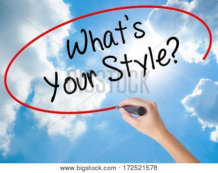 Woman Hand Writing What's Your Style? With Black Marker On Visual Screen