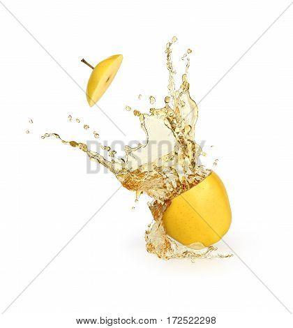 splash of juice on a white background