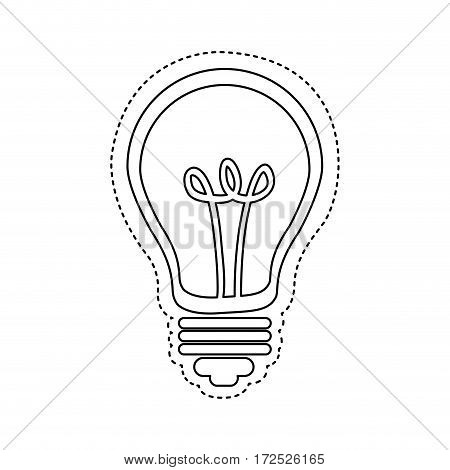 figure bulb icon image, vector illustration design stock