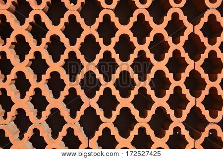 Close-up of a brick wall with a a special pattern picture from Puerto de la Cruz Tenerife Spain.