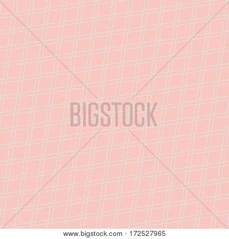 Geometric abstract vector pink and white pattern. Geometric modern ornament. Seamless modern background