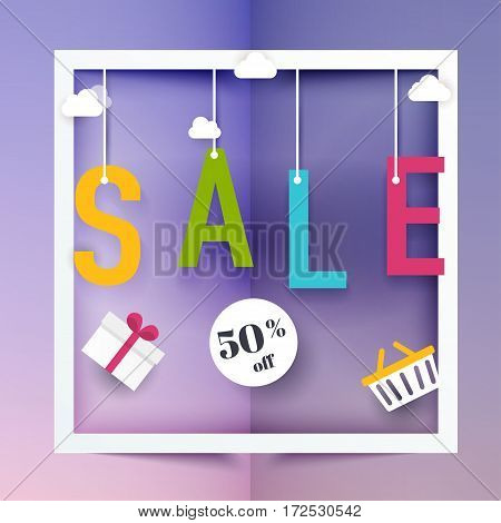 Sale Banners Design, Discounts And Special Offer. Shopping Background, Label For Business Promotion.