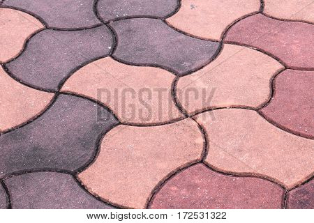 sandstone block floor texture background and copy space text