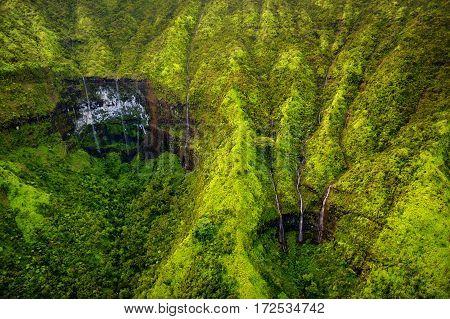 Mount Waialeale Known As The Wettest Spot On Earth, Kauai