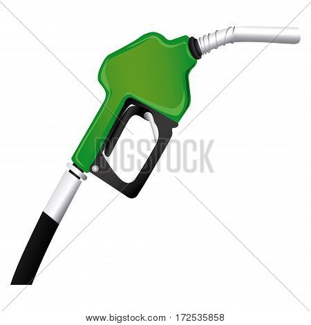 colorful silhouette with gasoline pump nozzle vector illustration