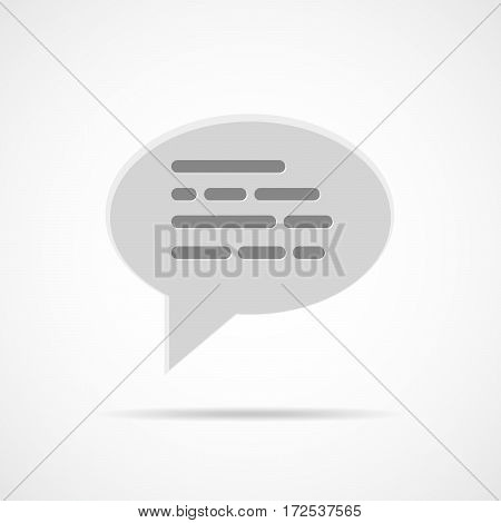 Speech bubbles icon on a light background. Vector illustration. Gray chat bubble sign isolated.