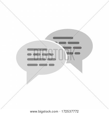 Speech bubbles icon on a white background. Vector illustration. Gray chat bubble sign isolated.