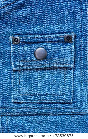 texture of denim with a pocket sewn in the middle thread