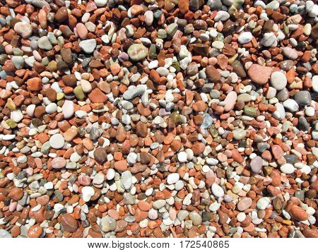 Stones Of A Beach For Background