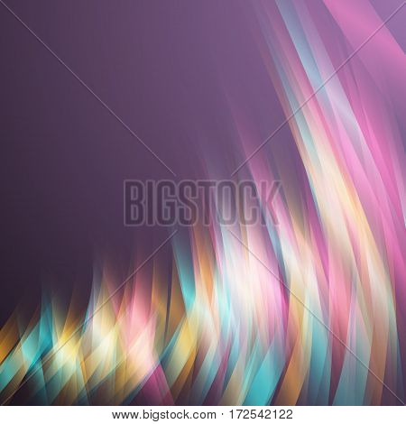 Illustration of Digital Glith Futuristic Effect. Abstract Vector Glowing Neon Party Background. Motion Energy Magic Light