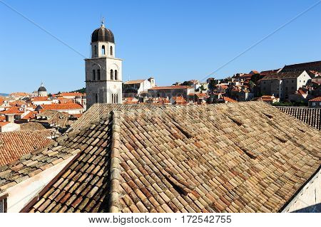 Franciscan Monastery On The Old Town Of Dubrovnik