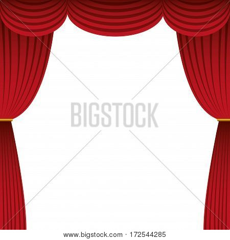 cinema courtain isolated icon vector illustration design