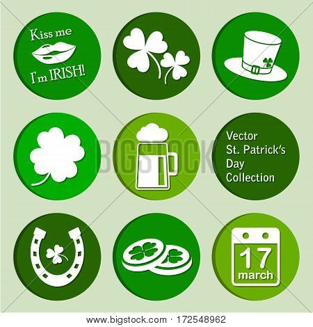 vector collection of st. patrick's day icons