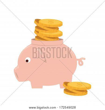 piggy savings money icon vector illustration design