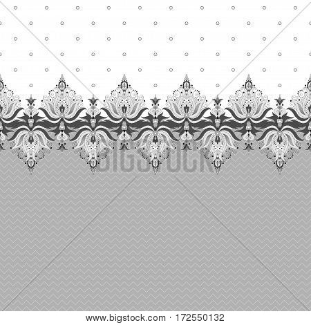 Two simple vector background and border. Oriental floral pattern and decorative items. Easily edit the colors.