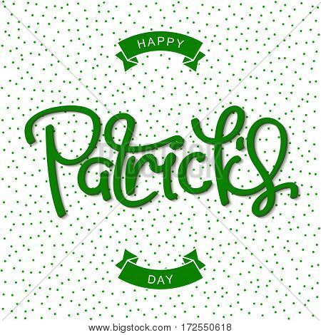 Saint Patrick's Day. Funny greeting poster in pop art style. Vector design elements.