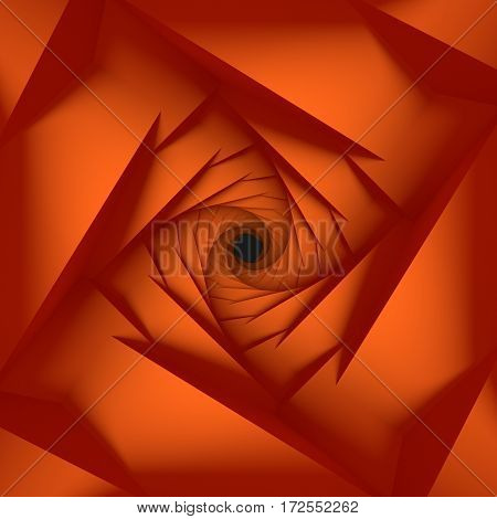 Orange Low Poly Geometric Background 3d Rendering