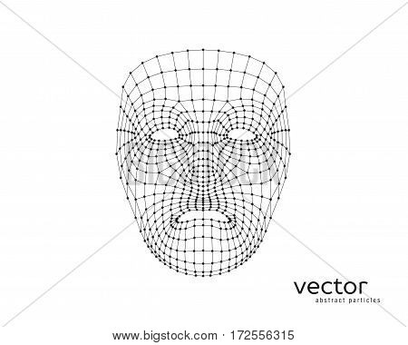 Abstract Vector Illustration Of Human Face.