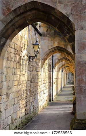 WINCHESTER, UK: Curles passage Arches of the Cathedral