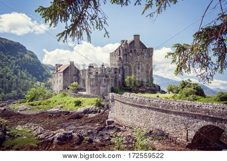 Eilean Donan castle in the highlands of Scotland UK