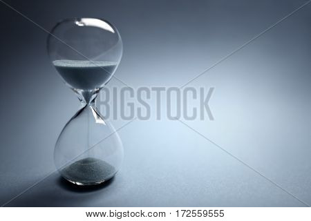 Hourglass time passing with copy space