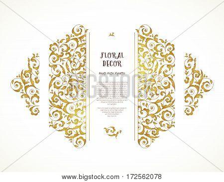 Vector Set Of Ornate Frame In Eastern Style.