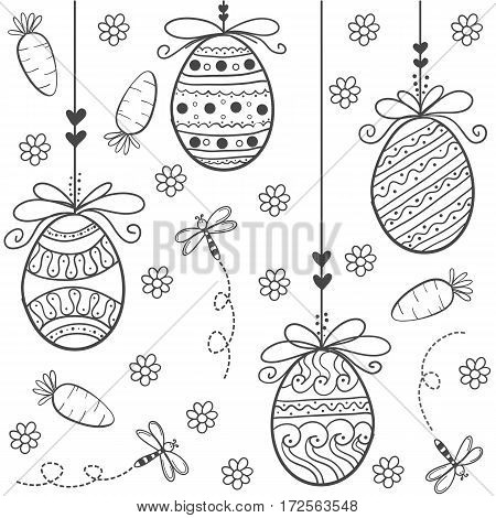 Doodle of easter style hand draw vector art