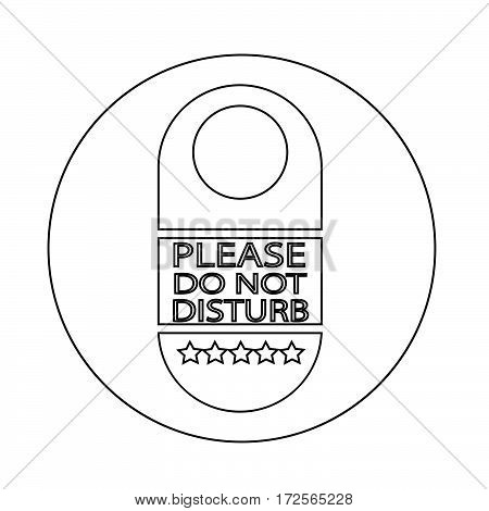 please do not disturb door hanger icon
